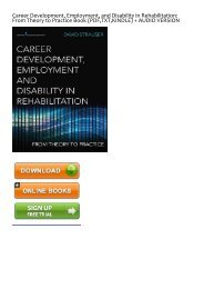 (SPONTANEOUS) Career Development, Employment, and Disability in Rehabilitation: From Theory to Practice eBook PDF Download