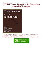 (STABLE) Trace Elements in the Rhizosphere eBook PDF Download