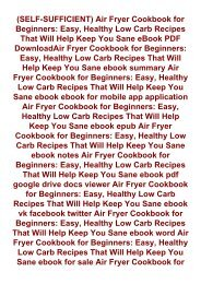 -SELF-SUFFICIENT-Air-Fryer-Cookbook-for-Beginners-Easy-Healthy--Low-Carb-Recipes-That-Will-Help-Keep-You-Sane-eBook-PDF-DownloadAir-Fryer-