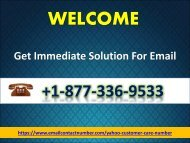 Get Email Customer Support Number 1877-503-0107