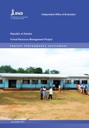 project performance assessment - International Fund for Agricultural ...