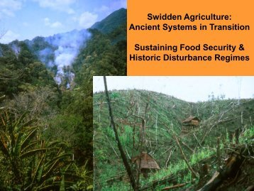 Swidden Agriculture: Ancient Systems in Transition Sustaining Food ...