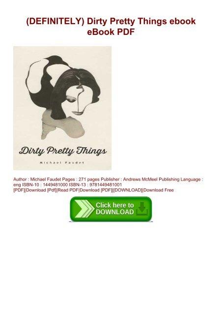 michael faudet dirty pretty things pdf free download