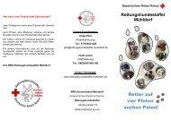 Retter auf vier Pfoten suchen Paten! - Kreisverband Mühldorf