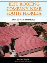 Best Roofing Company Near South Florida
