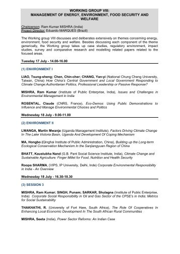 schedule - IASIA Annual Conference, 2012