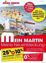 MEIN MARTIN - MEINE NEUENTDECKUNG<br>Möbel Martin GmbH & Co. KG - Neueröffnung in Saarbrücken