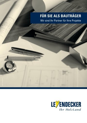 Leyendecker Bauträger Broschüre