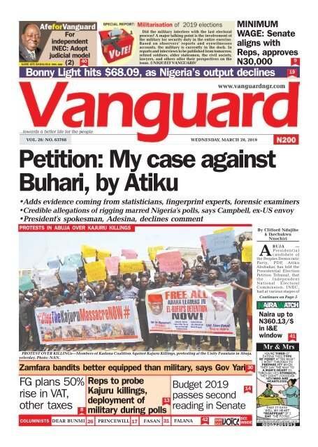 20032019 -Petition: My case against Buhari, by Atiku