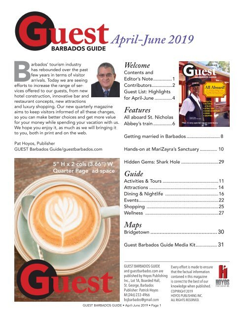 GUEST Barbados Guide April-June 2019