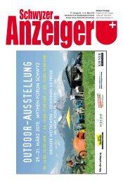 Schwyzer Anzeiger – Woche 12 – 22. März 2019