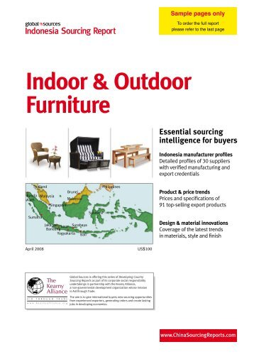 Indoor & Outdoor Furniture - China Sourcing Reports