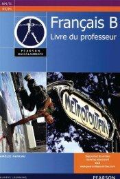 9780435074548, Pearson Baccalaureate Francais B Teacher's Book for the IB Diploma [Spiral-bound] SAMPLE40