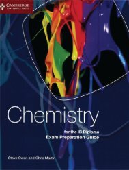9781107495807, Chemistry for the IB Diploma Exam Preparation Guide SAMPLE40