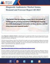 Diagnostic Audiometer Market Status, Demand and Forecast Report till 2023