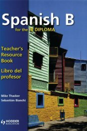 9781444146424, Spanish for the IB Diploma Teacher Resource Book [Spiral-bound] SAMPLE40