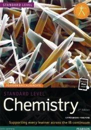 9781447959076, Pearson Baccalaureate Chemistry Standard Level 2nd edition SAMPLE40