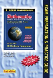 9781921972133, Mathematics HL Core Exam Preparation and Practice Guide, 3rd Edition SAMPLE40