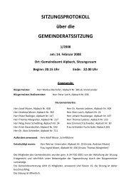 SITZUNGSPROTOKOLL über die ... - Alpbach