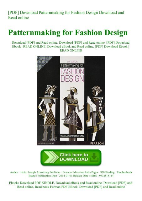 Pdf Download Patternmaking For Fashion Design Download And Read Online