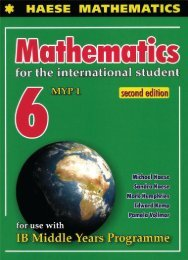 SHELF 9781921972430, Mathematics for the International Student 6 (MYP 1) Second Edition SAMPLE40