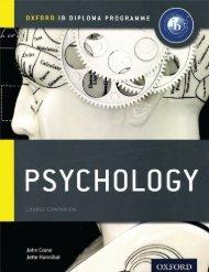 SHELF 9780198389958, IB Psychology Course Book SAMPLE40
