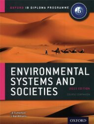 SHELF 9780198332565, Environmental Systems and Societies Course Book SAMPLE40