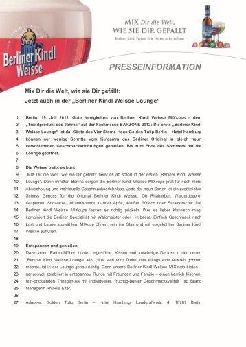 presseinformation - Radeberger Gruppe KG