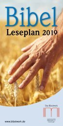 Bibelleseplan 2019