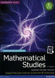 SHELF 9781447938477, Mathematics Studies for the IB Diploma Revised 2012 SAMPLE40