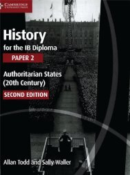 SHELF 9781107558892, History for the IB Diploma Paper 2 Authoritarian States SAMPLE40