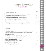 Dein Franz - Hotel & Restaurant Bad Füssing - Speisekarte