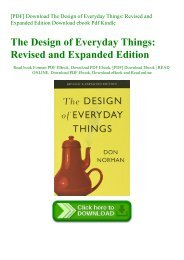 [PDF] Download The Design of Everyday Things Revised and Expanded Edition Download ebook Pdf Kindle