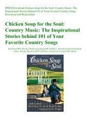 [PDF] Download Chicken Soup for the Soul Country Music The Inspirational Stories behind 101 of Your Favorite Country Songs Download and Read online