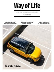 Suzuki Way of Life Magazin Frühling 2019