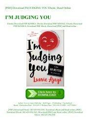 [PDF] Download I'M JUDGING YOU Ebook  Read Online