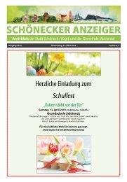 Schönecker Anzeiger März 2019