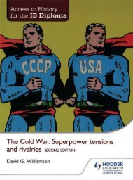 SHELF 9781471839290, Access to History for the IB Diploma The Cold War Superpower Tensions and Rivalries SAMPLE40