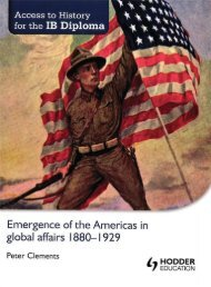 SHELF 9781444182286, Access to History for the IB Diploma The Emergence of the Americas in Global affairs SAMPLE40