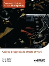 SHELF 9781444156416, Access to History for the IB Diploma Causes, Practices and Effects of Wars SAMPLE40