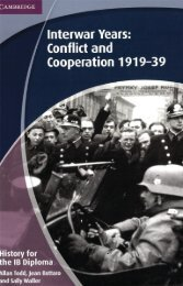 SHELF 9781107640207, History for the IB Diploma Interwar Years Conflict and Cooperation 1919-39 SAMPLE40