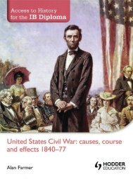 SHELF 9781444156508, Access to History for the IB Diploma United States Civil War - Causes, Course and Effects 1840-77 SAMPLE40