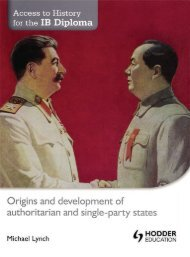 SHELF 9781444156447, Access to History for the IB Diploma Origins and Development of Single-Party States SAMPLE40