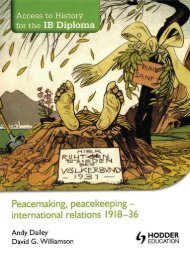 SHELF 9781444156324, Access to History for the IB Diploma Peacemaking, Peacekeeping - International Relations 1918-36 SAMPLE40