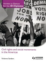 SHELF 9781444156621, Access to History for the IB Diploma Civil Rights and Social Movements in the Americas SAMPLE40