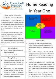 Year One Home Reading Parent Handout