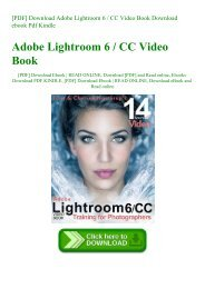 [PDF] Download Adobe Lightroom 6  CC Video Book Download ebook Pdf Kindle