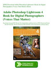 [PDF] Download Adobe Photoshop Lightroom 4 Book for Digital Photographers (Voices That Matter) eBook