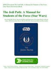Star Wars The Jedi Path Pdf