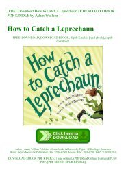 [PDF] Download How to Catch a Leprechaun DOWNLOAD EBOOK PDF KINDLE by Adam Wallace